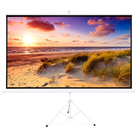Best Choice Products 100in Portable 16:9 Projection Screen w/ 87x49in Foldable Stand, 1.3 Gain - -