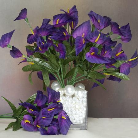Classic White Lily - Efavormart 504 Artificial MINI CALLA Lilies for DIY Wedding Bouquets Centerpieces Arrangements Party Home Decorations - 24 Bushes