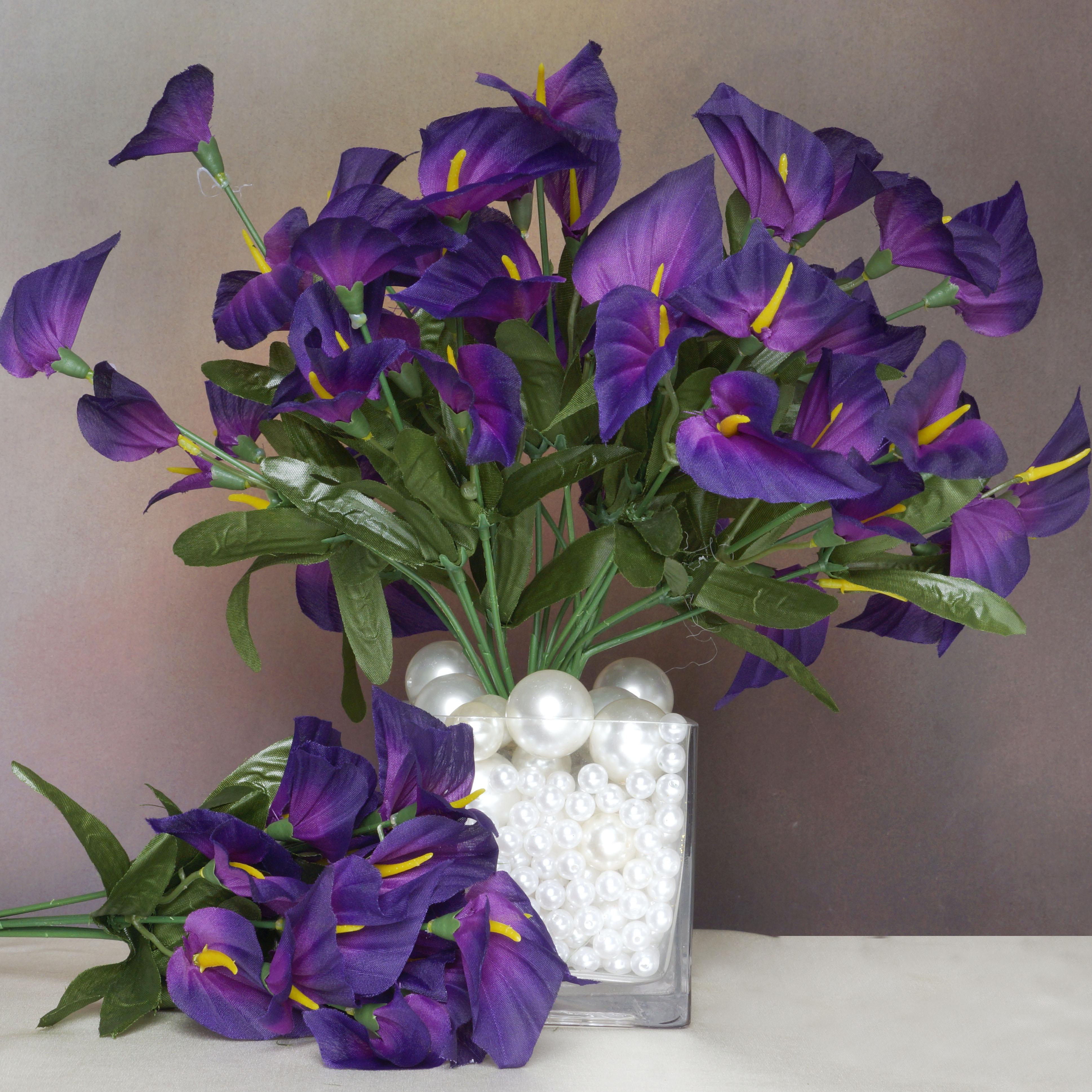 Efavormart 504 Artificial MINI CALLA Lilies for DIY Wedding Bouquets Centerpieces Arrangements Party Home Decorations - 24 Bushes