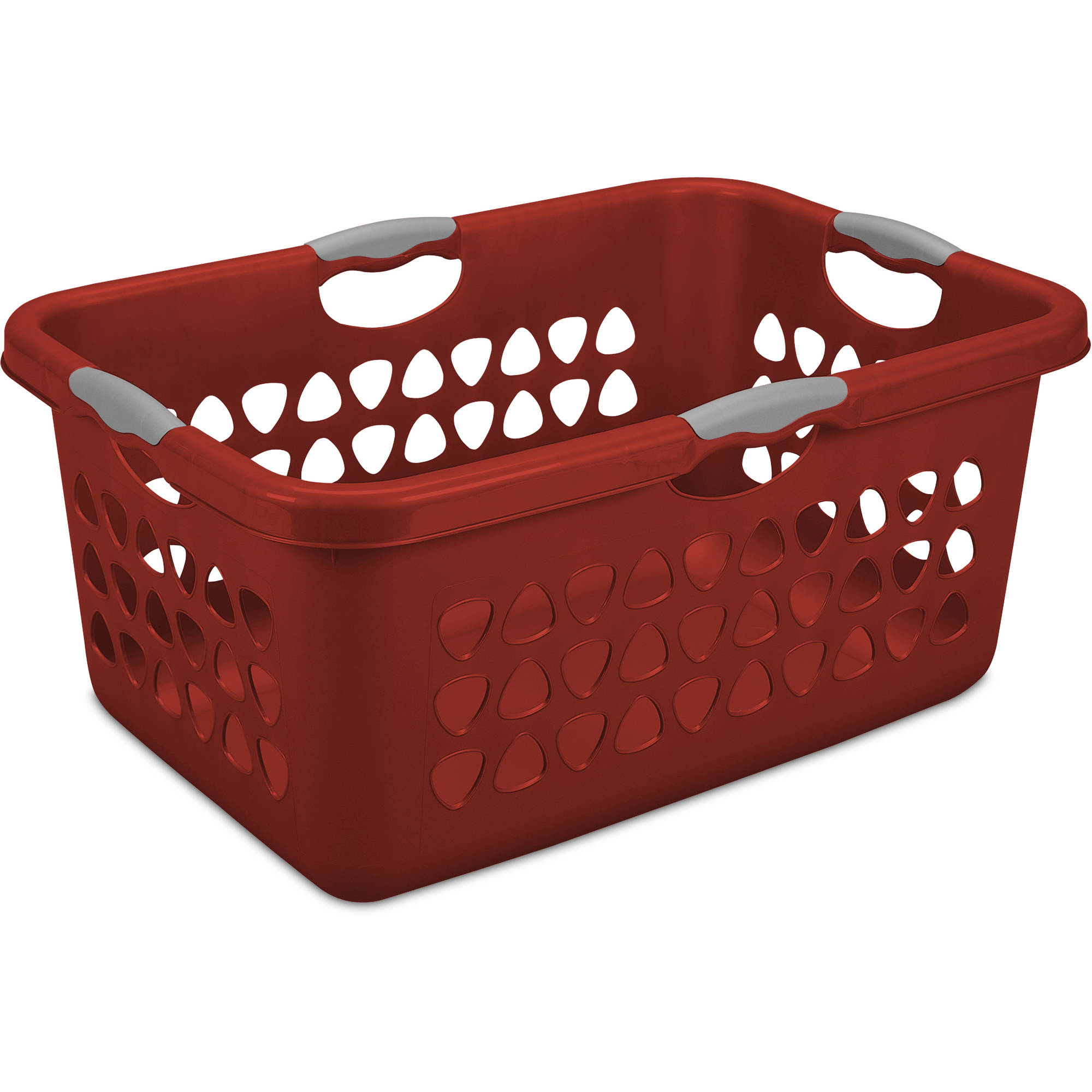 Sterilite 2 Bushel Laundry Basket, Red, Case of 4