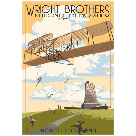 Wright Brothers National Memorial - Outer Banks, North Carolina Poster - 13x19 ()
