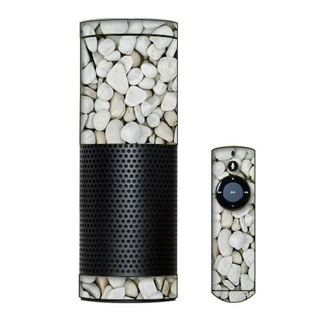Skin Decal Vinyl Wrap For Amazon Echo Device   White Rocks