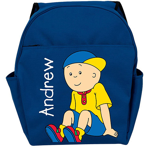 Personalized Caillou Let's Play Blue Backpack