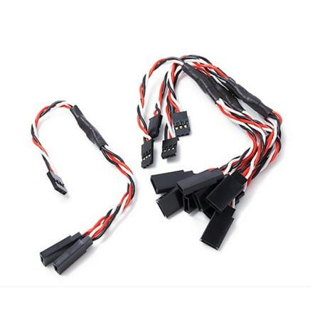 HobbyFlip Twisted 15cm Y Servo Split Leads Y-Adapter Connectors Splitters (Futaba) for RC Drone