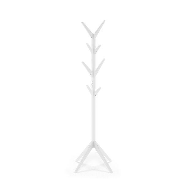Furinno Yaotai Tree-shaped Hat and Coat Rack Stand, White