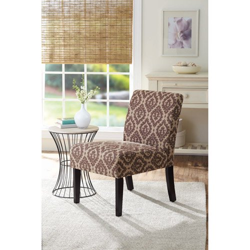 better homes and gardens accent chair print brown walmartcom - Printed Accent Chairs