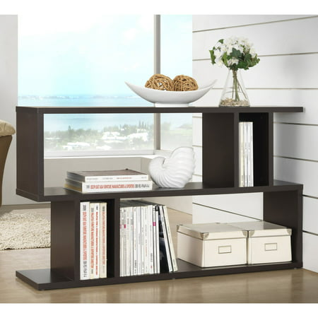 "27.5"" Goodwin 2 Level Modern Bookshelf Dark Brown - Baxton Studio"