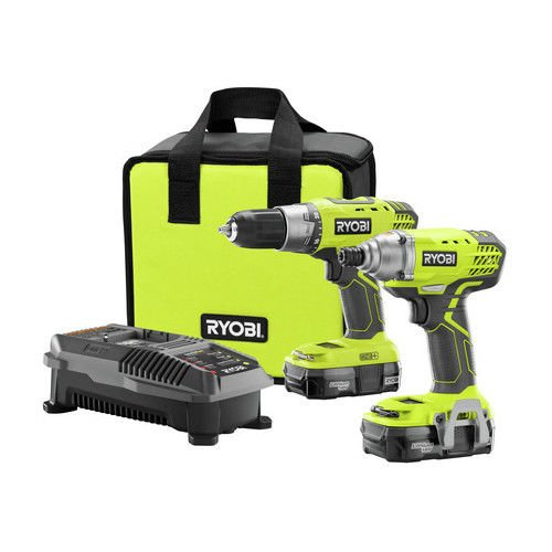Ryobi ZRP1832 Ryobi 18-Volt ONE Plus Drill/Driver and Impact Driver Kit (Certified Refurbished)