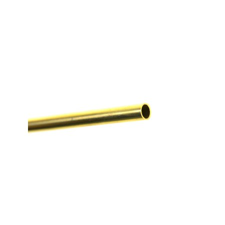 Metal Tubing brass, 3/16 in. x .014 in. x 36 in., tubing (pack of (Gold Tubing)