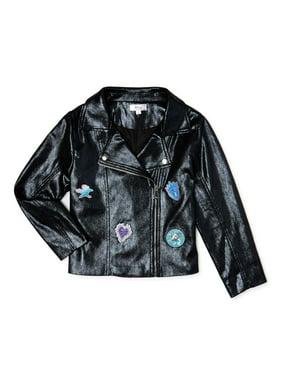 Descendants Girls Iridescent Moto Jacket, Sizes 6-16