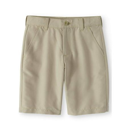 Wonder Nation School Uniform Performance Shorts (Little Boys & Big Boys)](Black Ruffle Boy Shorts)