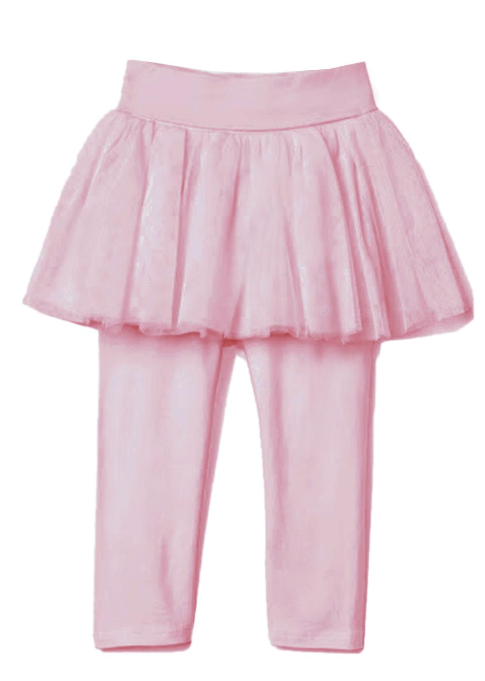 StylesILove Toddler Girl Soft Tutu Cotton Legging Pants (90/3T, Yellow)