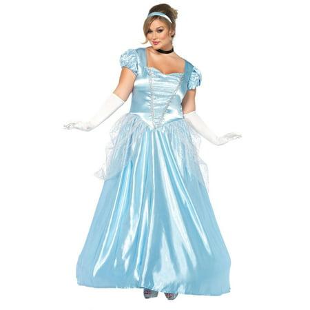 Leg Avenue Womens Plus Size Classic Long Cinderella Storybook Costume Set