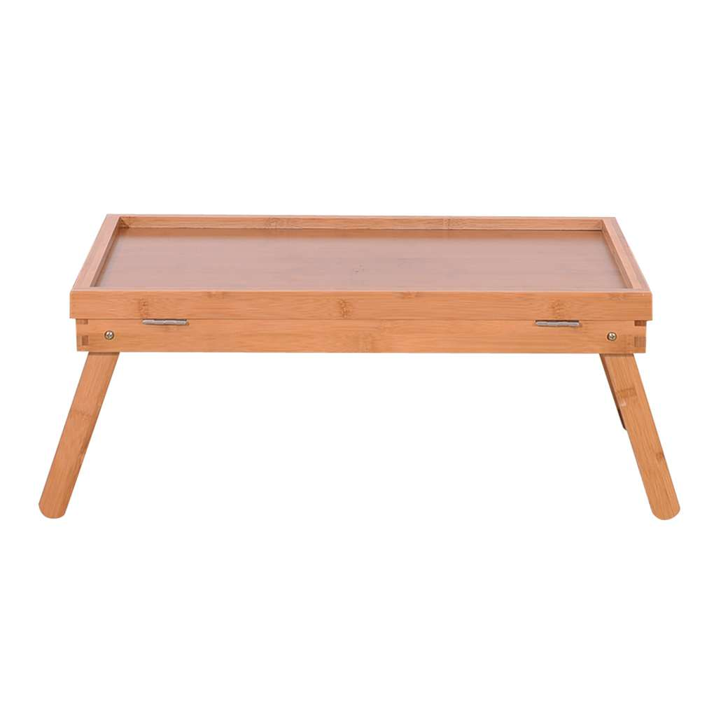 Dining Table Table Top Adjustable Folding Legs Bamboo Food