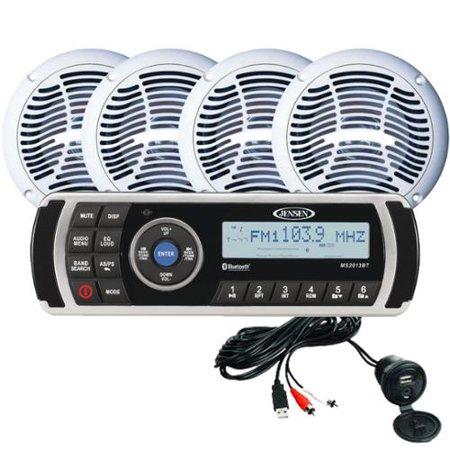 Jensen CPM200 Am, Fm & USB Waterproof, Bluetooth Stereo Package by