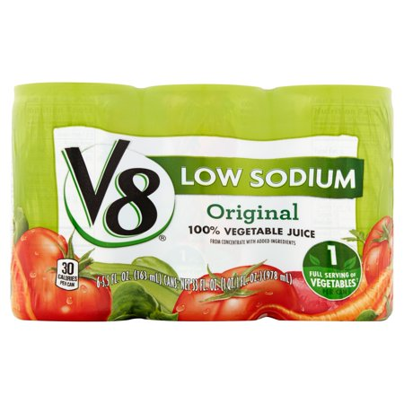 V8 Low Sodium 100  Vegetable Juice  6 Ct 33 Fl Oz