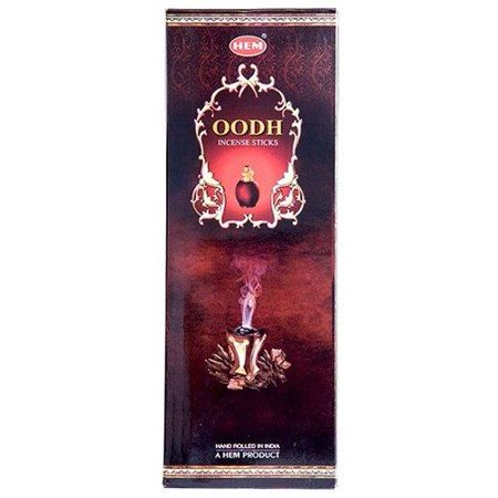 Oodh (Aloeswood) - Box of Six 20 Stick Hex Tubes - HEM Incense Hand Rolled In India