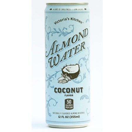 victorias kitchen coconut flavor almond water 12 oz cans pack - Victorias Kitchen Almond Water