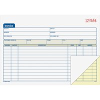 "Adams 2-Part Carbonless Invoice Book, 5-9/16"" x 8-7/16"""