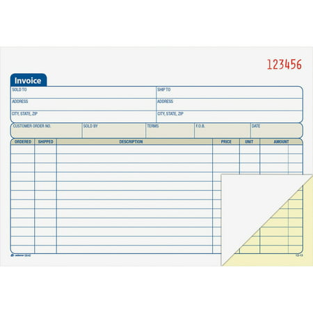 Adams Part Carbonless Invoice Book X Walmartcom - Personalized invoice books