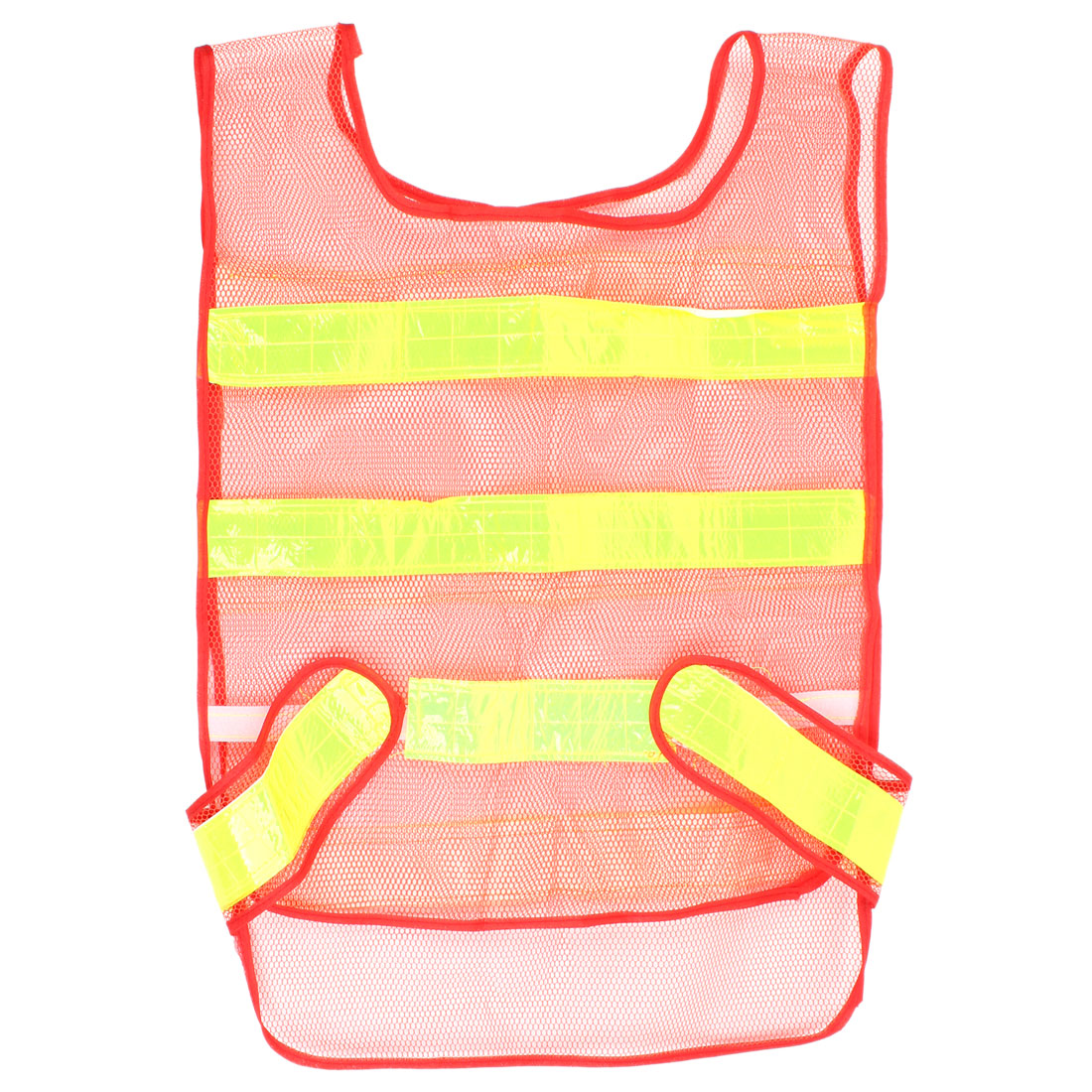 Red Yellow Polyester Reflective Strips High Visibility Security Vest