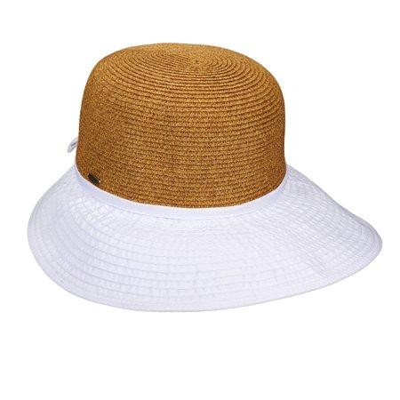 c92a91cf3da29 Scala Collezione - Scala Collezione Women s Braided Face Saver Hat White OS  - Walmart.com
