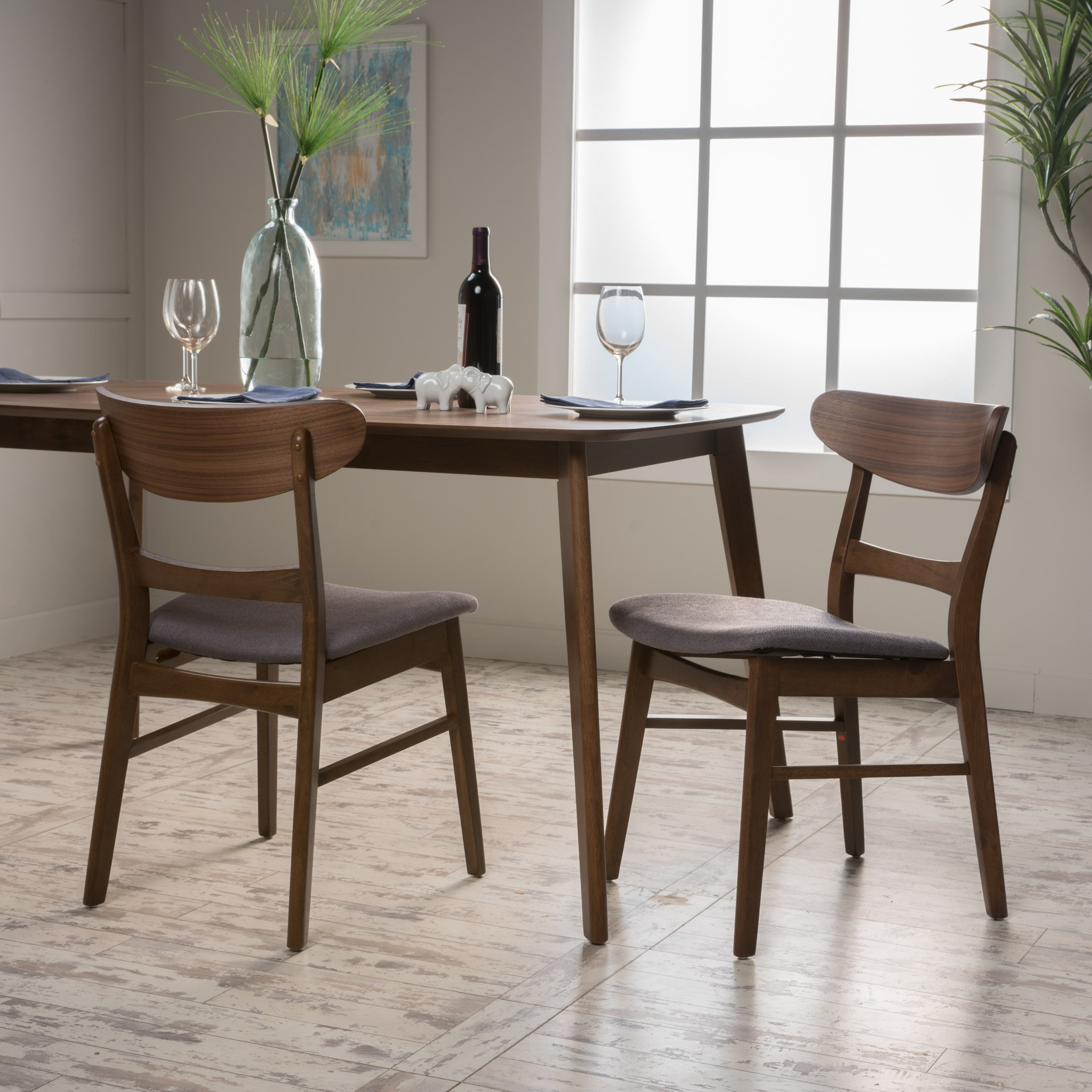 Noble House Odelia Mid-Century Modern Dining Chairs (Set ...