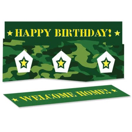 Military Camouflage Happy Birthday Centerpiece (1ct)](Military Ball Centerpieces)