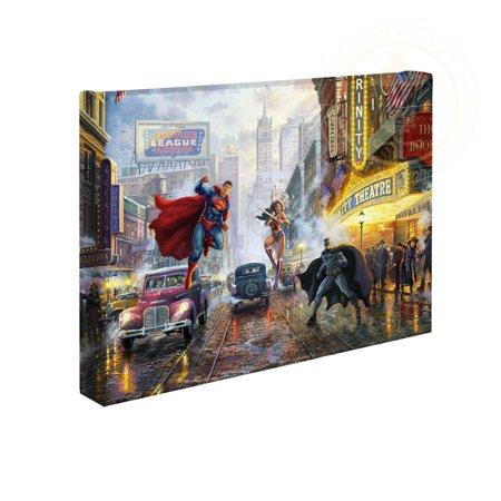 Halloween Batman Art (Thomas Kinkade Studios DC Super Hero Fine Art Batman, Superman and Wonder Woman 10