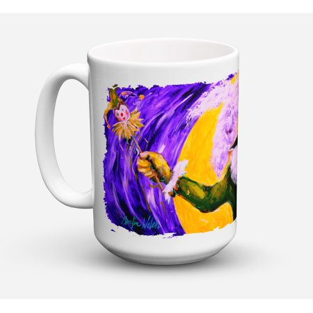 Mardi Gras Hey Mister Dishwasher Safe Microwavable Ceramic Coffee Mug 15 ounce