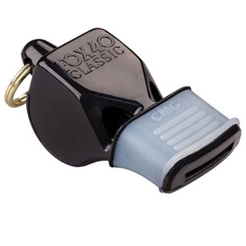 Fox 40 Whistle with Mouth Grip - Black