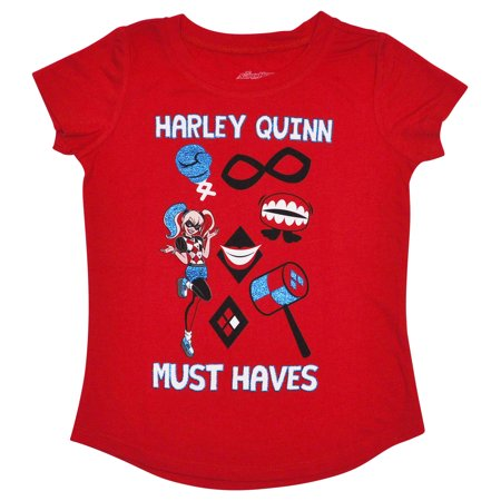 Girls On Harley (DC's Harley Quinn Girls Short Sleeve Graphic)
