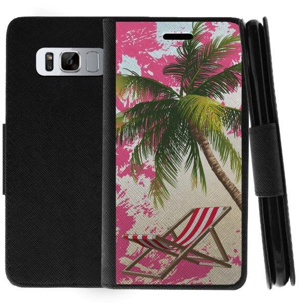 TurtleArmor ® | For Samsung Galaxy Note 8 N950 [Wallet Case] Leather Cover with Flip Kickstand and Card Slots - Beach Shore