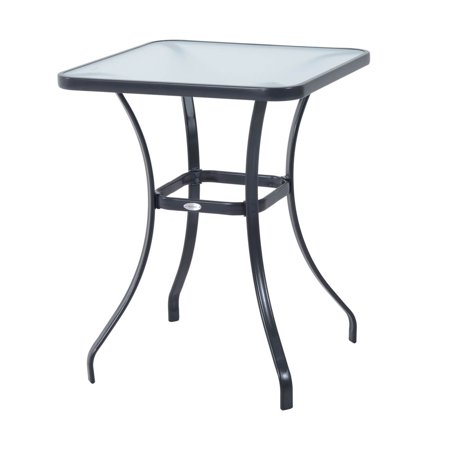 Outsunny 34 in. Glass Top Bistro Table ()