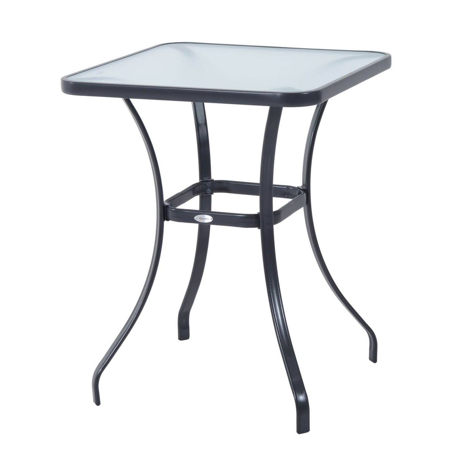 Outsunny 34 in. Glass Top Bistro Table