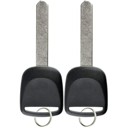 2 PACK KeylessOption Replacement Chip Transponder Blank Car Ignition Key Blade for 2003-2015 Acura Honda Vehicles