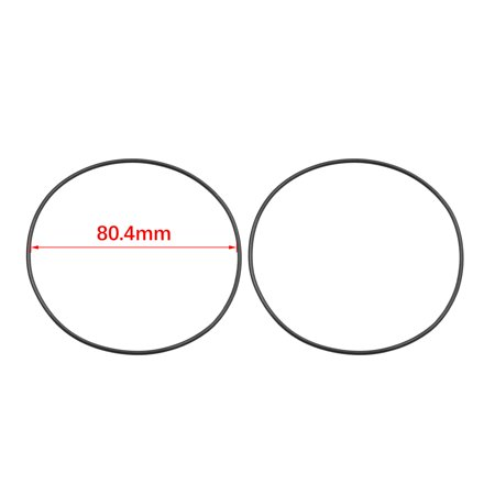 Black NBR O-Ring Seal Gasket Washer for Automotive Car 80.4 x 1.8mm 30pcs - image 1 of 2