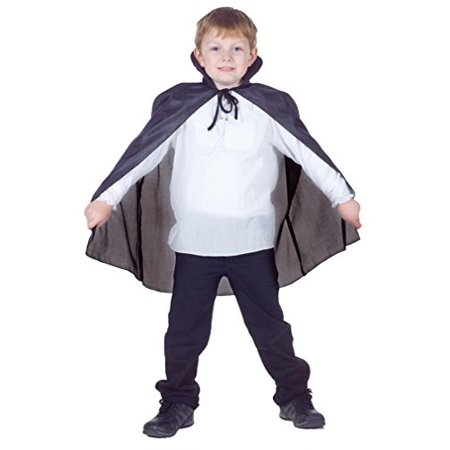 Black Taffeta Cape Boys Standard