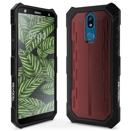 LG K40 Case, Evocel [Glass Screen Protector] [Full Body] [Raised Lip] [Easy Push Buttons] [Matte Finish] Heavy Core Series Phone Case for LG K40, (Raised Matte)