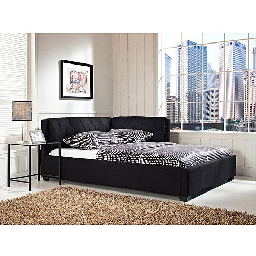Tufted Lounge Reversible Full Bed, Black