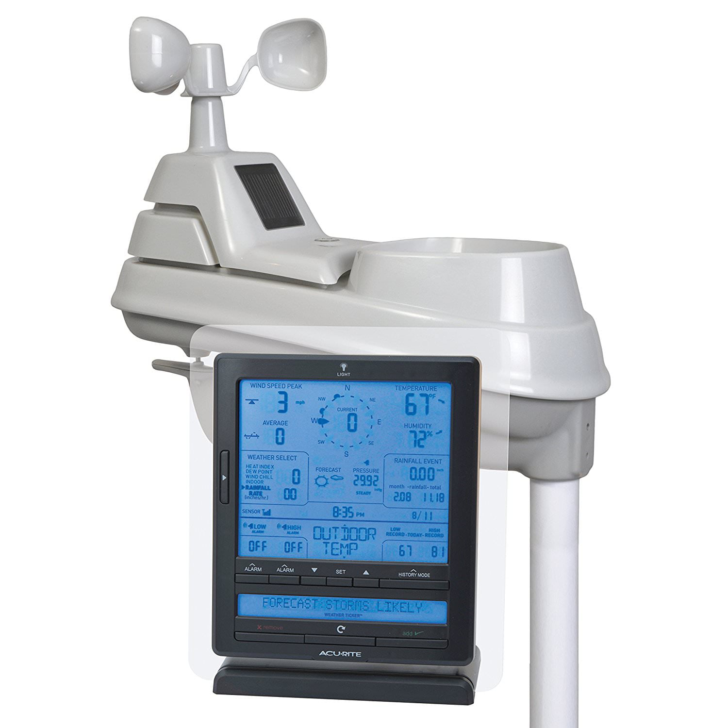 AcuRite 01015 Pro 5-in-1 Weather Station with Wind and Rain + Weather Ticker by Chaney Instrument Co
