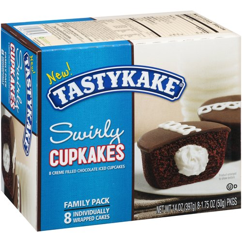 Tastykake Swirly Cupkakes, 1.75 oz, 8 ct