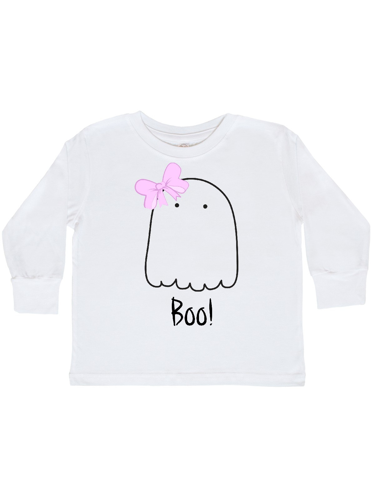 inktastic Cute Mothers Little Ghost with Stars Toddler Long Sleeve T-Shirt