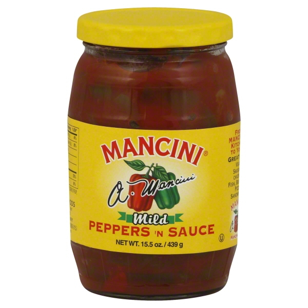 Mancini Packing Mancini  Peppers 'N Sauce, 15.5 oz