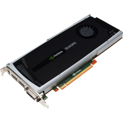 NVIDIA Quadro 4000 by PNY 2GB GDDR5 PCI Express Gen 2 x 16 DVI-I DL, Dual DisplayPort and Stereo OpenGL, DirectX, CUDA, and OpenCL Profesional Graphics Board, VCQ4000-PB