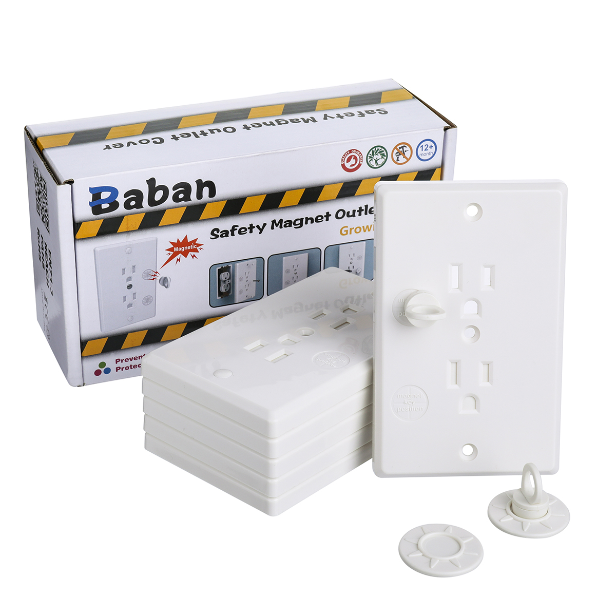 Baby Safety Outlet Cover Upgrade Baby Socket Cover Set With