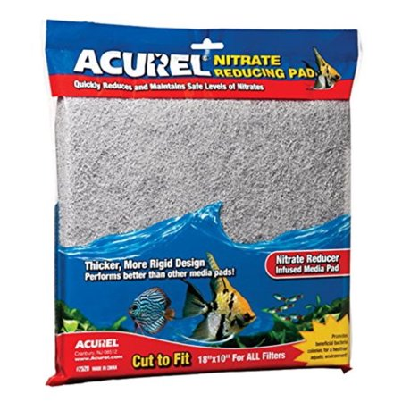 Nitrate Reducing Media Pad Aquarium and Pond Filter Accessory, 10-Inch by 18-Inch, Quickly reduces nitrates By Acurel LLC - Nitrate Filter Media