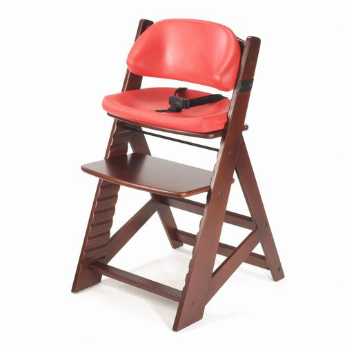 Keekaroo Height Right Kids Chair Mahogany with Cherry Comfort Cushions