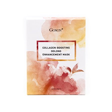 goson tea infused skin care face mask sheets - hydrating, moisturizing, collagen facial sheet mask pack - oolong tea face masks (5 face mask (Forever Flawless Diamond Infused Skin Care Reviews)