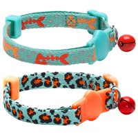Blueberry Pet Hunting Expedition Cat Collar, 2 Pack